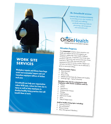 Orion Health - Brouchures